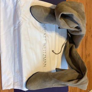 Stuart Weitzman thigh high gray highland boots